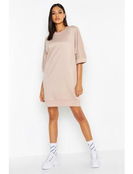 Tall Oversized Loop Back Sweat Dress by Boohoo