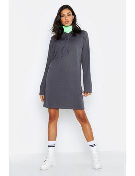 Tall Hooded Rib Sweat Dress by Boohoo