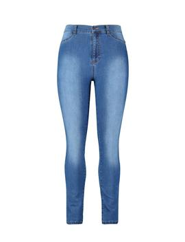 Plus Super High Waisted Power Stretch Jeans by Boohoo