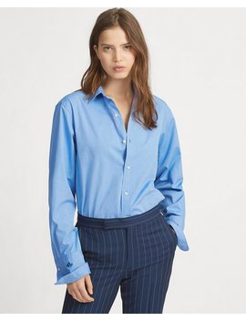 Monogram Cotton Shirt by Ralph Lauren