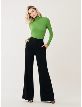 Kiersten High Waisted Wide Leg Pants by Dvf
