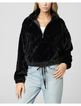 Faux Fur Half Zip Pullover by Juicy Couture