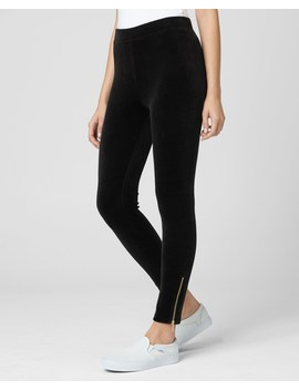 Stretch Velour Zip Legging by Juicy Couture