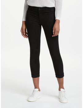 J Brand Anja Mid Rise Cropped Skinny Jeans, Black by J Brand