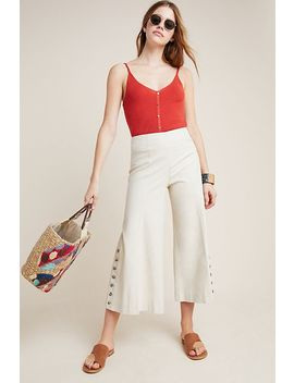 Buttoned Flare Pants by Anthropologie