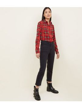 Cameo Rose Red Check Chain Print Shirt by New Look
