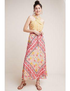 Victoria Scarf Printed Midi Skirt by Laia