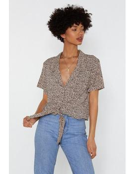 There's No Spotting You Tie Shirt by Nasty Gal