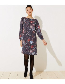 Nouveau Garden Cuffed Shirtdress by Loft