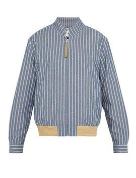 Striped Cotton Twill Jacket by Loewe