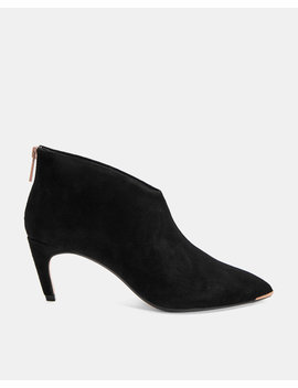 Slanted Heel Suede Ankle Boots by Ted Baker