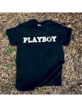 Play Boy Bunny Logo T Shirt Black Mens Women Short Sleeve S 2 Xl by Gildan