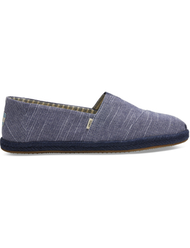Navy Rugged Chambray Mono Rope Men's Classics by Toms