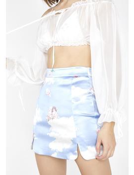 Celestial Sass Satin Skirt by Dolls Kill