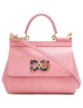 Logo Embellished Sicily Shoulder Bag by Dolce & Gabbana