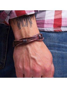 Mens Leather Bracelet Rope Bracelet Gift For Dad Husband Gift Mens Braided Leather Bracelet Mens Anniversary Gift For Him by Etsy