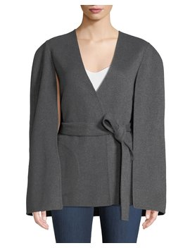 Maria Wool Blend Cape Sleeve Coat by Kobi Halperin