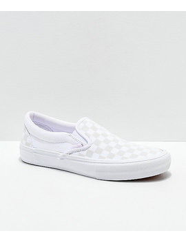 Vans Slip On Pro Reflect White Skate Shoes by Vans