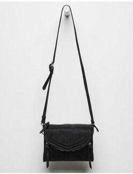 Violet Ray Leanna Whipstitch Black Crossbody Bag by Violet Ray