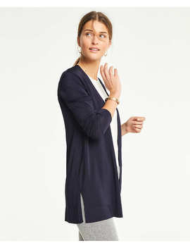 Petite Shimmer Open Cardigan by Ann Taylor