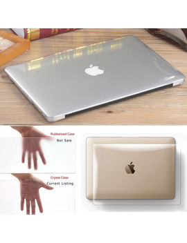 "Clear Crystal Snap On Macbook Case Cover For Air Pro Retina 11"" 12"" 13"" 15"" Inch by Ebay Seller"