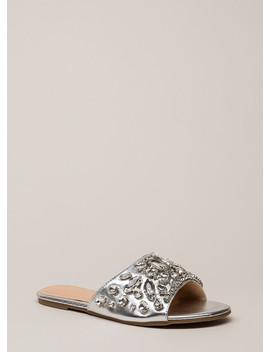Glass Slipper Jeweled Slide Sandals by Go Jane