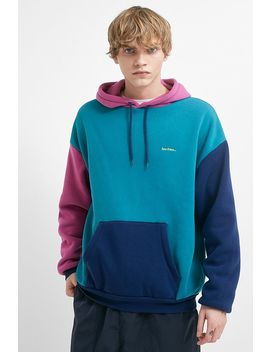 Iets Frans… Blue And Magenta Colour Block Hoodie by Iets Frans...