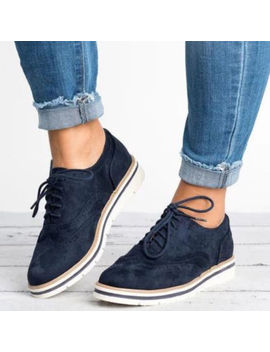 Women's Casual Shoes Wing Tip Brogues Oxfords Dress Formal Stitched Lace Up Flats by Unbranded