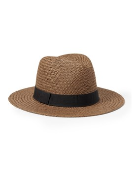Adjustable Straw Fedora by Banana Repbulic