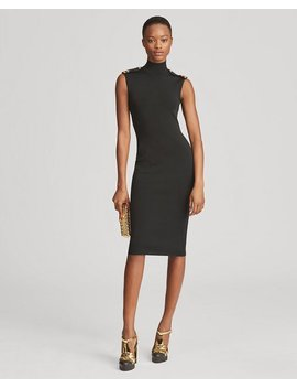Mockneck Dress by Ralph Lauren