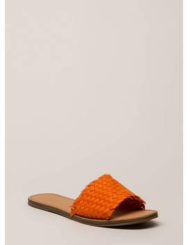 Picnic Basketwoven Slide Sandals by Go Jane
