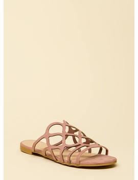 Staying Curvy Strappy Slip On Sandals by Go Jane