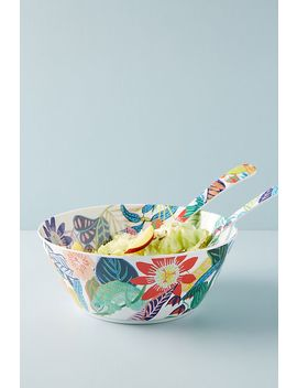 Tropical Melamine Serving Bowl by Anthropologie