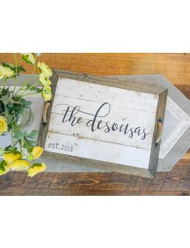 Personalized Handcrafted Solid Pine Wood Shiplap Decorative Tray by Etsy