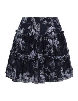 Mirabelle Gathered Floral Print Silk Georgette Mini Skirt by Cinq À Sept