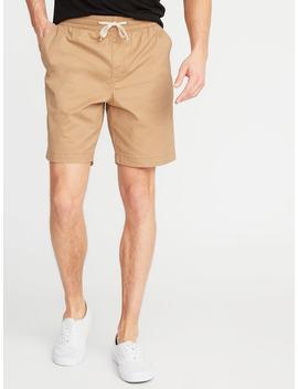 Built In Flex Twill Drawstring Jogger Shorts For Men   9 Inch Inseam by Old Navy