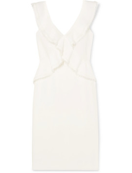 Lace Trimmed Crepe Dress by Jason Wu Collection