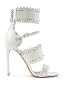 110 Studded Laser Cut Leather Sandals by Alaïa
