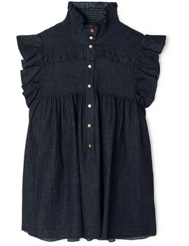 Smocked Denim Top by See By Chloé