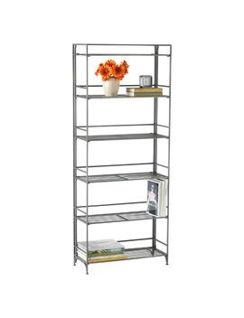 6 Shelf Iron Folding Bookshelf by Container Store