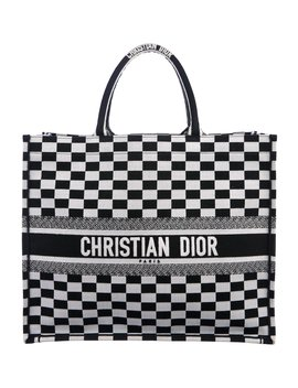2018 Embroidered Book Tote by Christian Dior