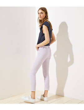 Modern Let Down Hem Skinny Crop Jeans In Lilac by Loft
