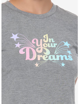 In Your Dreams Pastel Glitter Lettuce Hem T Shirt by Hot Topic