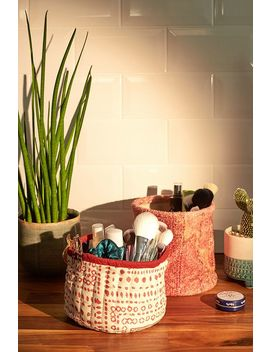 Small Quilted Storage Tub by Urban Outfitters