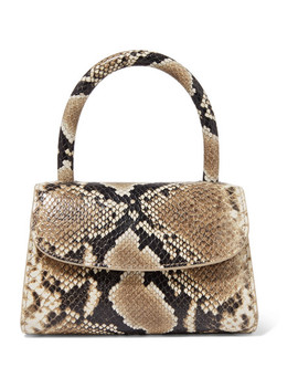 Mini Snake Effect Leather Tote by By Far