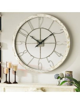 "Oversized Hartfo 39"" Wall Clock by Ophelia & Co."