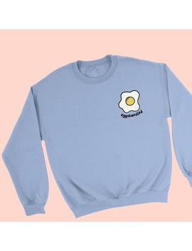 Fried Egg Sweater   Fried Egg Jumper   Egg Sweatshirt   Eggshausted Sweater   Pun Sweatshirt   Cute Sweatshirt   Cute Sweater   Egg Jumper by Etsy