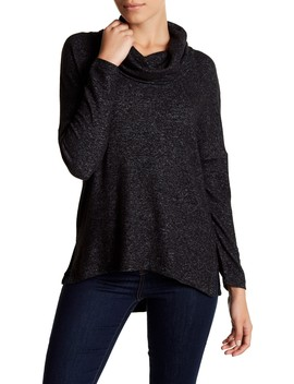 Long Sleeve Fleece Cowl Neck Pullover (Petite) by Susina