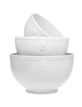 White Lion Head Mixing Bowl   Set Of 3 by Home Essentials And Beyond