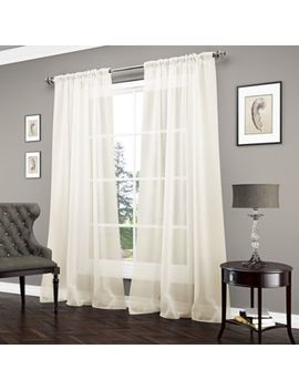 Vue™ Carrington Sheer Window Curtain Panel by Bed Bath And Beyond